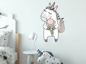 Details zu Wandtattoo Einhorn weiß Kinderzimmer Pferd Mädchen Geschenk  Unicorn Wand Deko