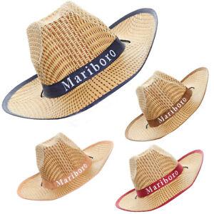 81ad4dfe949a4 Summer Outdoor Cowboy Hats Men Tourist Straw Caps Wide Brim Beach ...