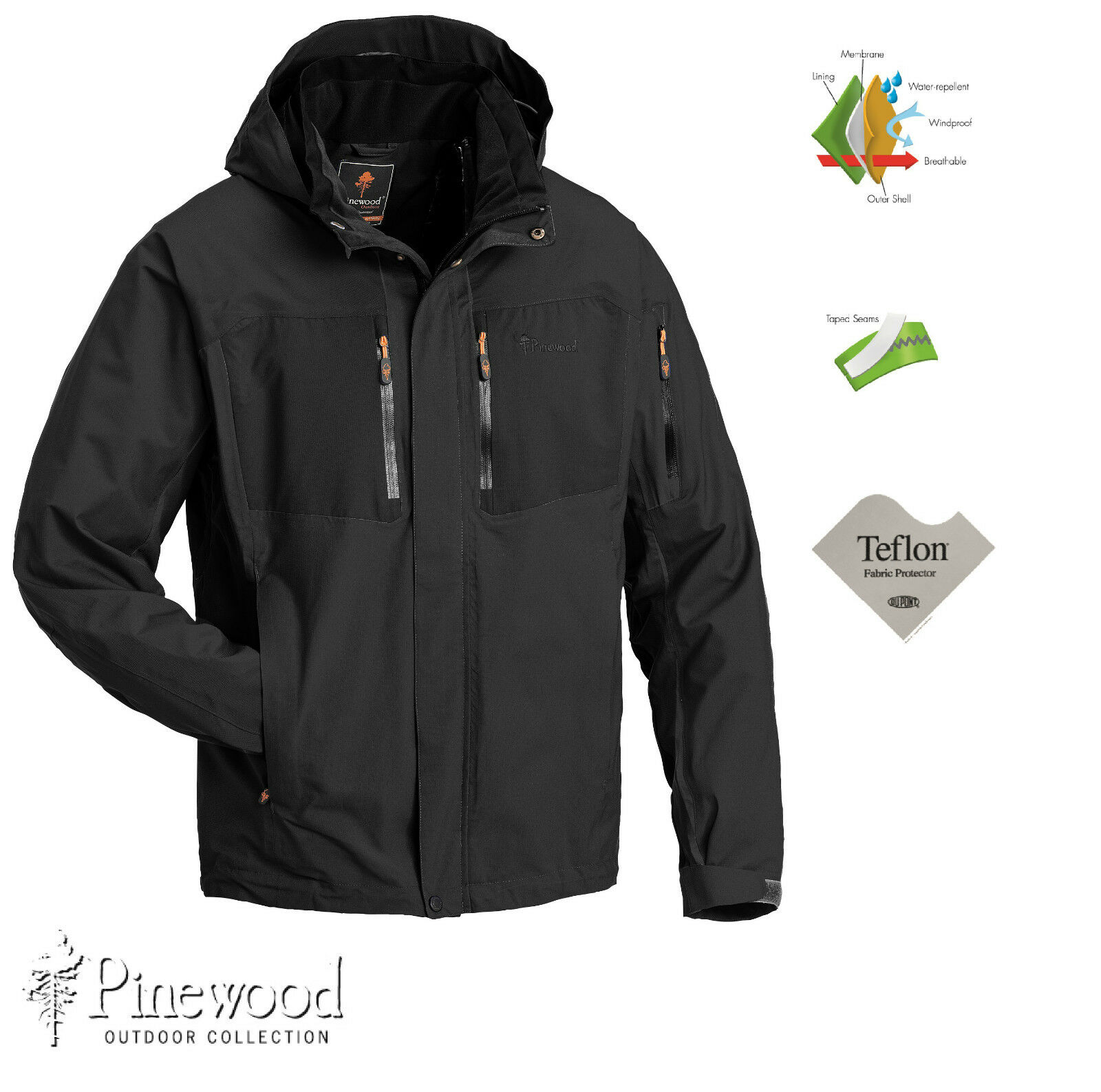 Juptr Pinewood Al aire libre chaqueta. impermeable y transpirable