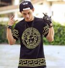 Tide Brand Men's Short-Sleeved T-Shirt HIPHOP Plus Fertilizer To Increas