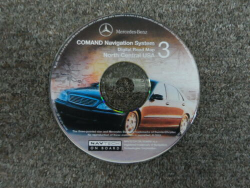 2001 Mercedes COMAND NAV System Digital Roadmap North Central USA CD#3 OEM