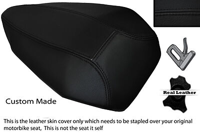 BLACK /& WHITE CUSTOM FITS BMW R 1200 RT REAR PASSENGER REAL LEATHER SEAT COVER