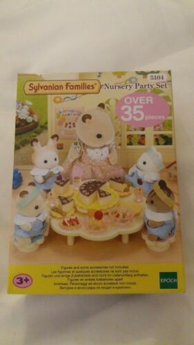 Sylvanian Families Nursery Party Set Item # 5104 Nouveau Entièrement neuf dans sa boîte EPOCH MAKING Toys
