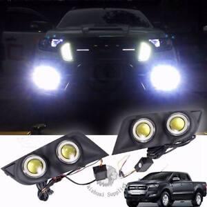 For Ford Ranger PX2 MK2 Facelift 2016-on Black Carbon Fog Lamp Spot Light Cover