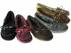 065ebffb565 Details about New Womens Moccasins Cushy Faux Fur Slip On Indoor Outdoor  Slipper Shoes Sz 5-10