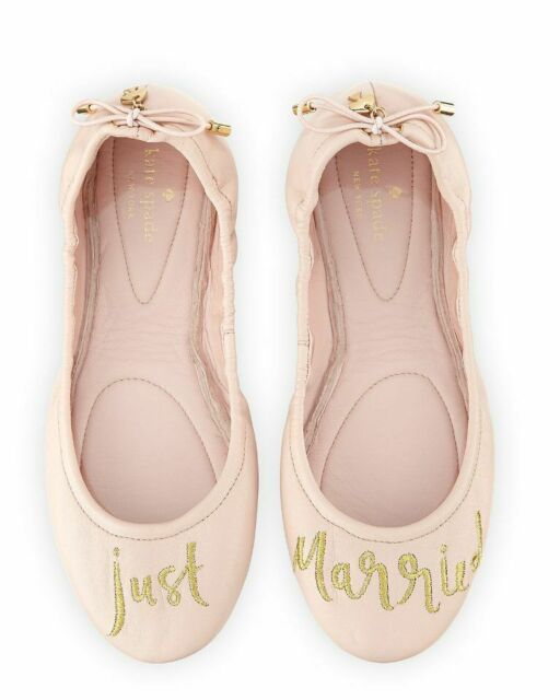 Kate Spade New York Pink Leather Gwen Ballet Flats Shoes Womens sz 6.5 New