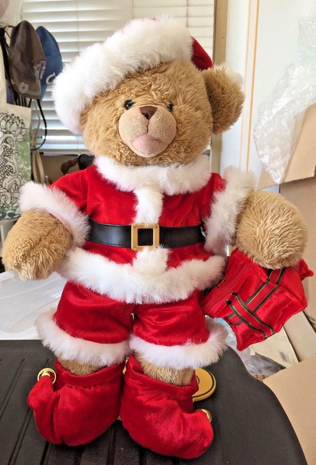 RETIrot BUILD A BEAR PLUSH WEARING SANTA CLAUS CHRISTMAS OUTFIT W ORIGINAL BOX