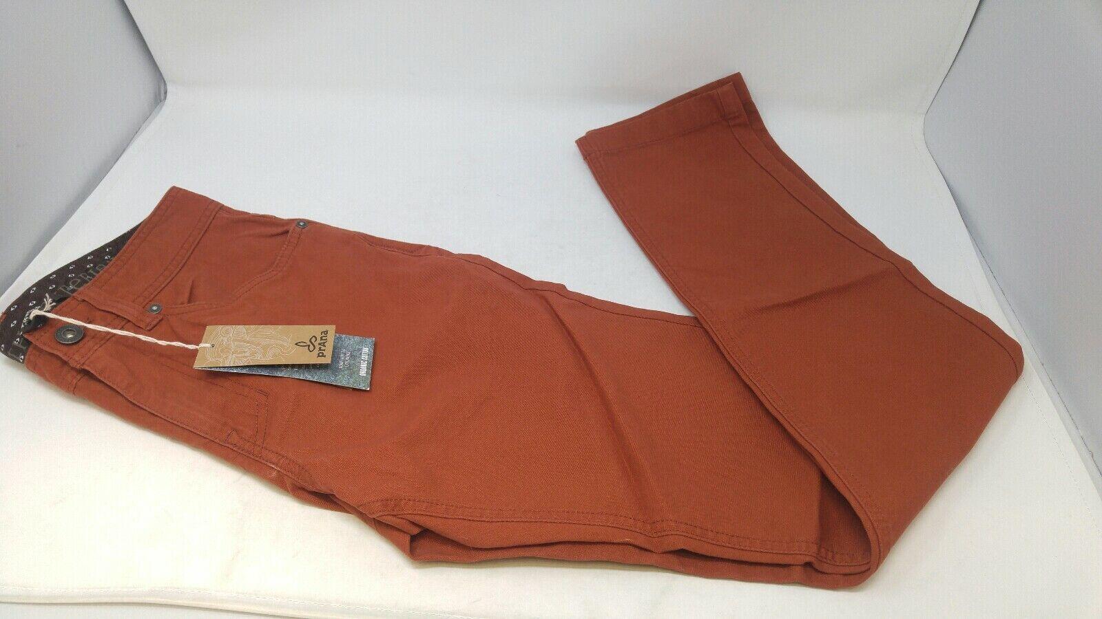 Prana Mens Burnt orange Tucson Pants Slim Fit 28 32