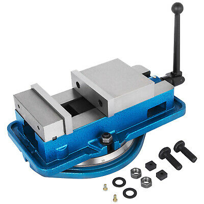 """3/"""" Milling Machine Lockdown Vise With 360℃ Swiveling Base High Precision"""