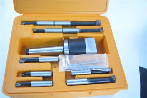 "2/"" boring head 9pcs 1//2/"" carbide boring bars with MT3 M12 Bridgeport milling"