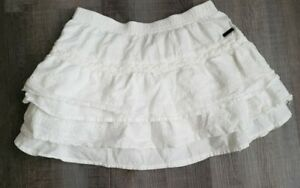 Beautiful-Designer-BOBOLI-Girls-White-Linen-Skirt-Size-6-Spain