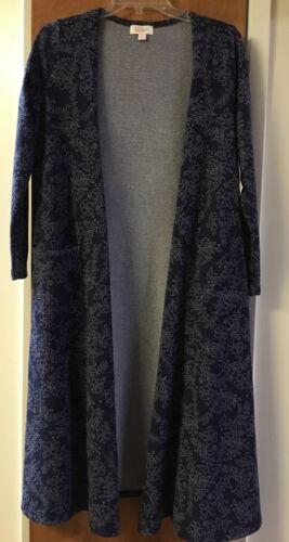 Cardigan bianco S Sarah blu Nwt Lularoe maglione lungo floreale Duster Piccolo 1tPx6Bq