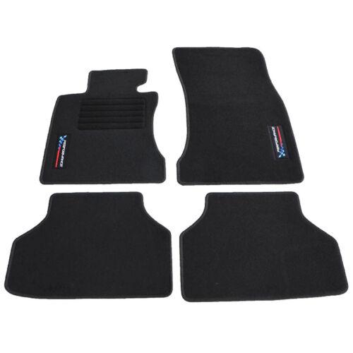 Fußmatten passend für BMW 5er E60 E61 ab Bj.2003-2011 Velours Logo Autoteppiche