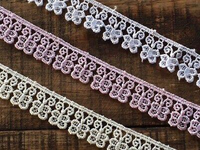 5 METRES Ivory Little Flower Venise Guipure Lace Trim 2cm laverslace