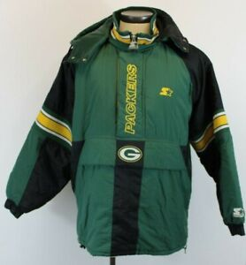 Vintage-90-039-s-Green-Bay-Packers-NFL-Pro-Line-Starter-Jacket-Size-L-Pull-Over-Men