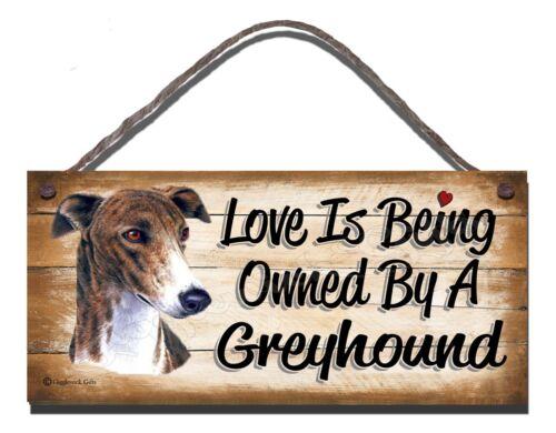 En bois plaque chien lévrier Pet amant cadeau