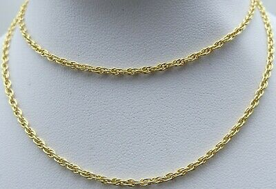 9ct Solid Gold 21 Inch Long Yellow Gold Double Link Neck Chain Weighs 5 Grams Ebay