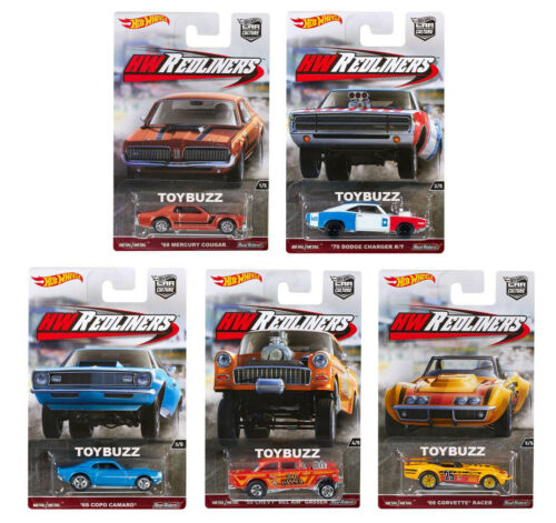 Hot Wheels 1:64 Car Culture Redliners 2016 Set of 5 Chevy Gasser 55 DJF77 2016