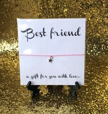 Wish String Charm Bracelet Best Friend Friendship Star Gift  #105