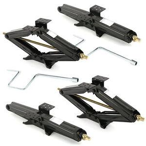 "4 Pcs 24""  5000lb RV Camper Scissor Leveling Jacks Trailer Stabilizer w/Handle"