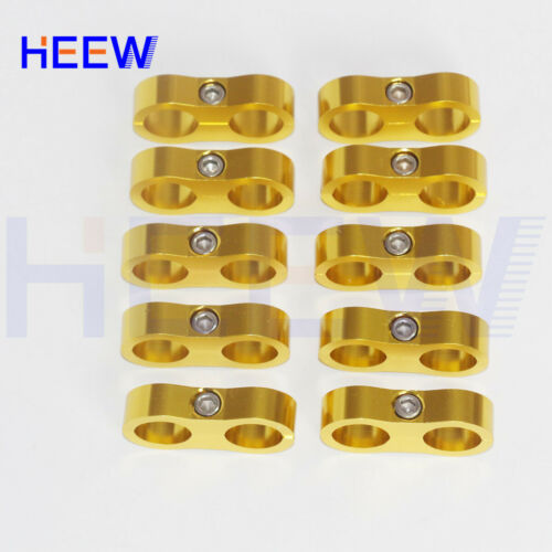 """AN-8 AN8 5//8"""" FOR Braided Hose Separator Clamp Fitting Adapter Bracket GOLD 10P"""
