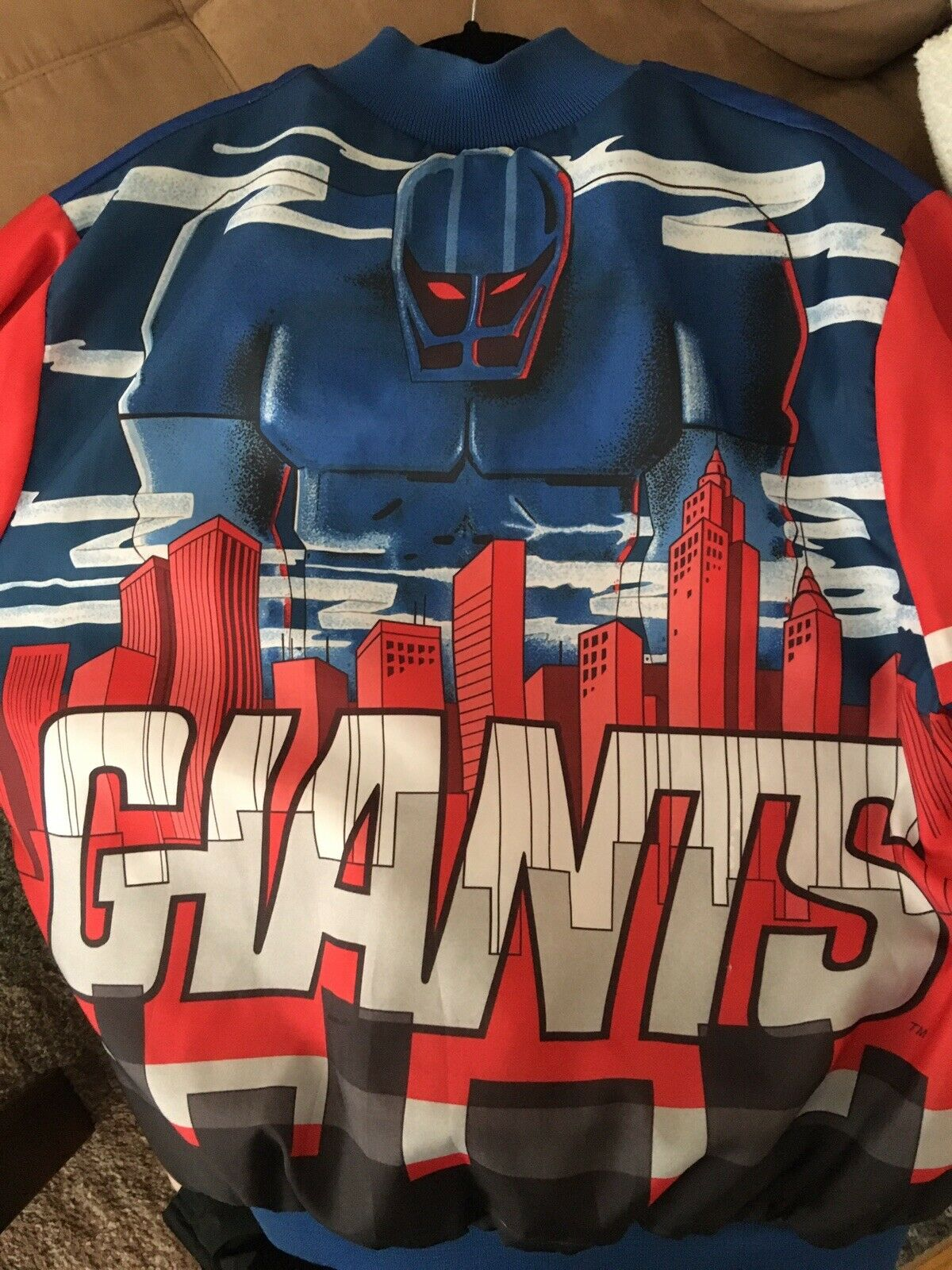 Vintage New York Giants Jacket Chalkline Fanination Jacket Starter Satin Jersey