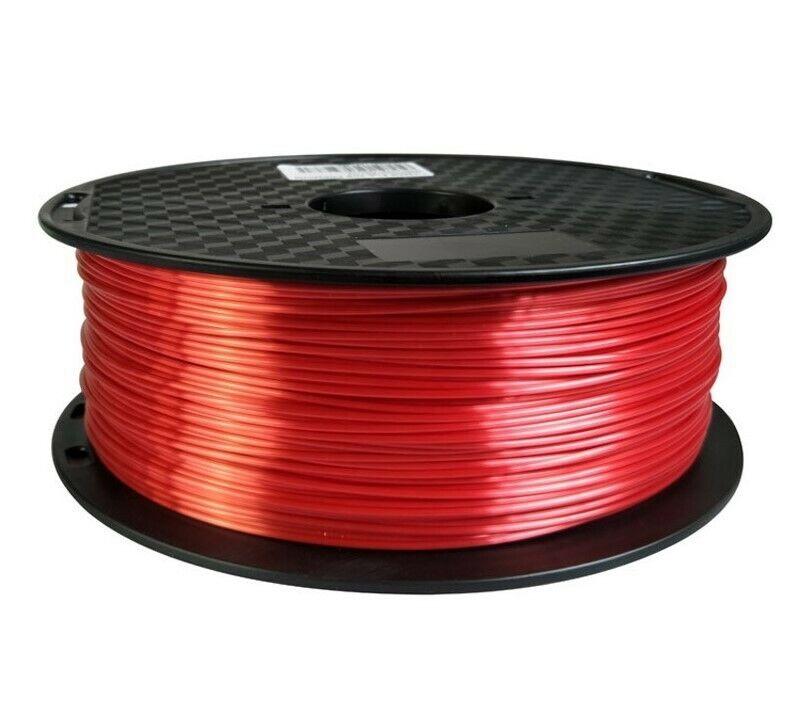 3D Printer Filament Silk PLA Red 1.75mm 1kg/2.2lbs Perth Australia Stock