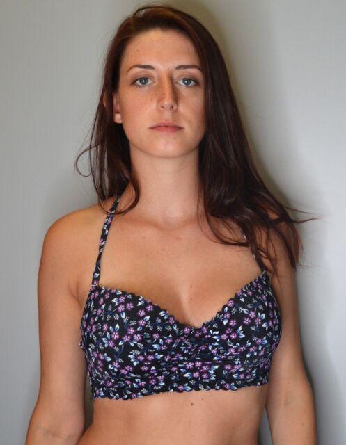 a55cfc84c7 Sundazed Nixie Size 34dd Underwire Bra-sized Halter Bikini Top Only ...