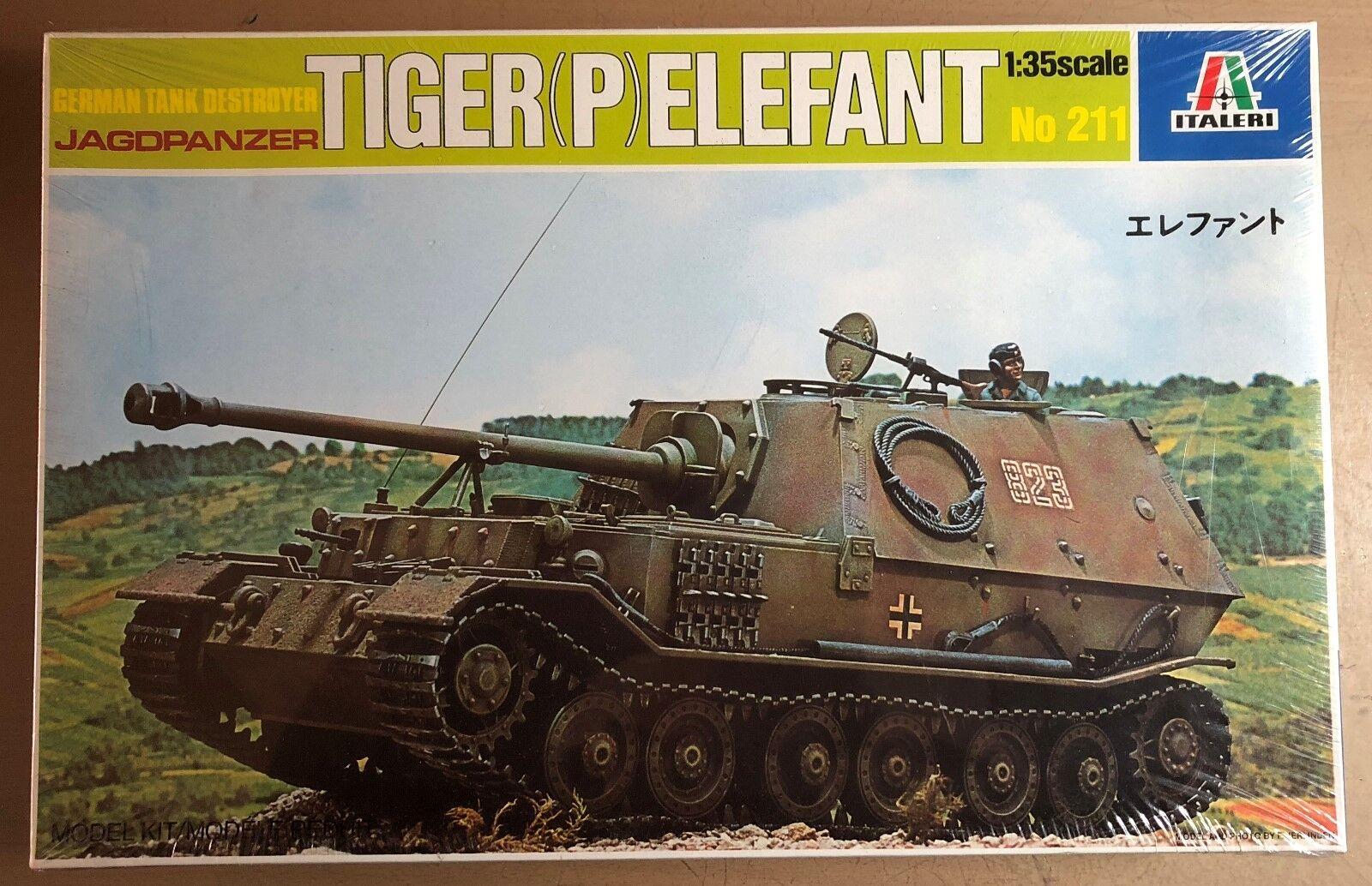 ITALERI 211 - JAGDPANZER TIGER (P) ELEFANTGERMAN TANK DESTROYER - 1 35 PLASTIC