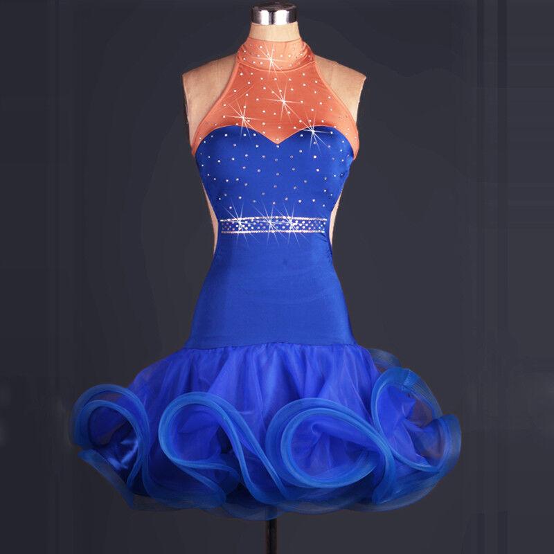 NEU Latino salsa Kleid TanzKleid LatinaKleid Latein Kleid Turnierkleid FM195 | Produktqualität  | Primäre Qualität  | Verschiedene Stile und Stile