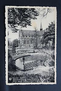 Tarjeta-Postal-Antigua-Belgica-Bruselas-la-Iglesia-Y-Plaza-De-Del-Clavo