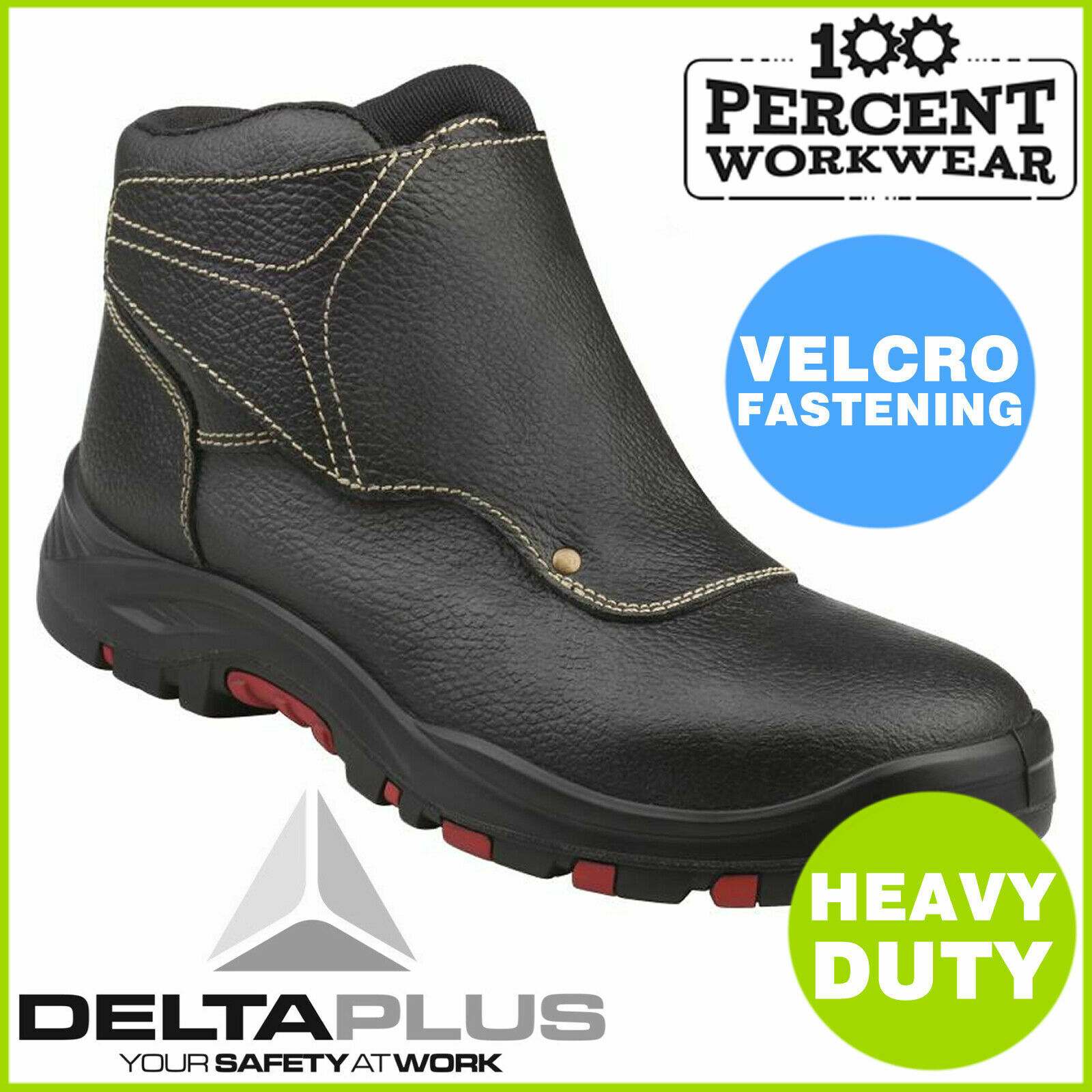 Size UK 12 EU 47 Delta Plus COBRA4 Heavy Duty Welding Mens Leather Safety Boots