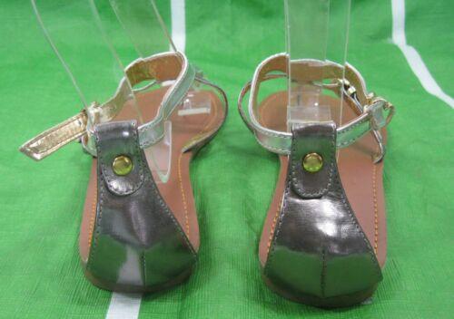 Plata Acero Talla Zapatos Sandalias Planas Mujer Nuevos Para Dama rdoeCBx