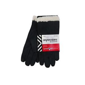 ISOTONER-WOMENS-SMARTTOUCH-TECHNOLOGY-SUEDE-SHERPA-SOFT-LINED-WINTER-WARM-GLOVES