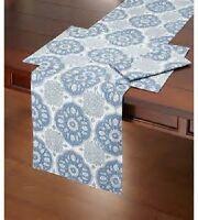 Southern Living Mahal Print Table Runner 100% Cotton 13 X 72