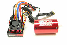 1/10 RC CAR 80A BRUSHLESS ESC 540 SIZE 16T 4000Kv MOTOR PROG CARD UPGRADE COMBO