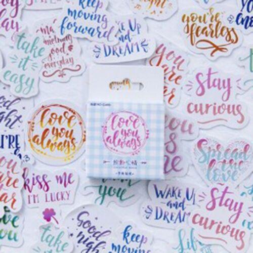 46Pcs//Box Cute Stickers Kawaii Stationery DIY Scrapbooking Journal Diary Sticker
