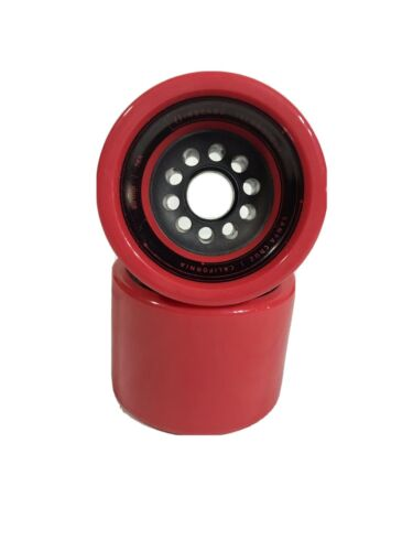 No Bearings INBOARD M1 REV Red Front Polyurethane Wheel Set of Two