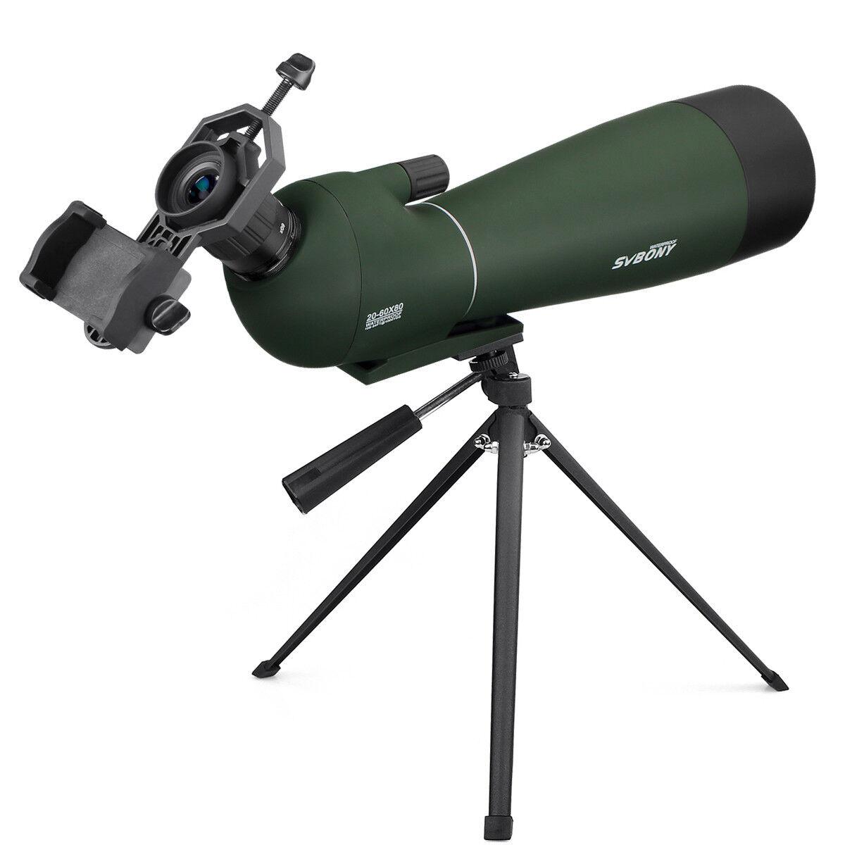 SV28 20-60x80mm BAK4 Prism 45 ° ángulo Telescopio Terrestre Zoom Refractor observación de aves