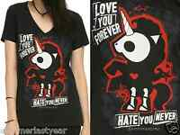 Skelanimals bonita Love You Forever V-neck T-shirt For Juniors Free Shipping