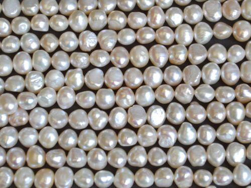 AAA Freshwater Pearl Metallic White Color Nugget Shape Size 5x6mm #82