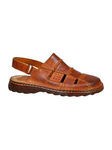 7f807ee3fed Image is loading Men-Comfy-Orthopedic-Natural-Buffalo-Leather-Sandals-Shoes-