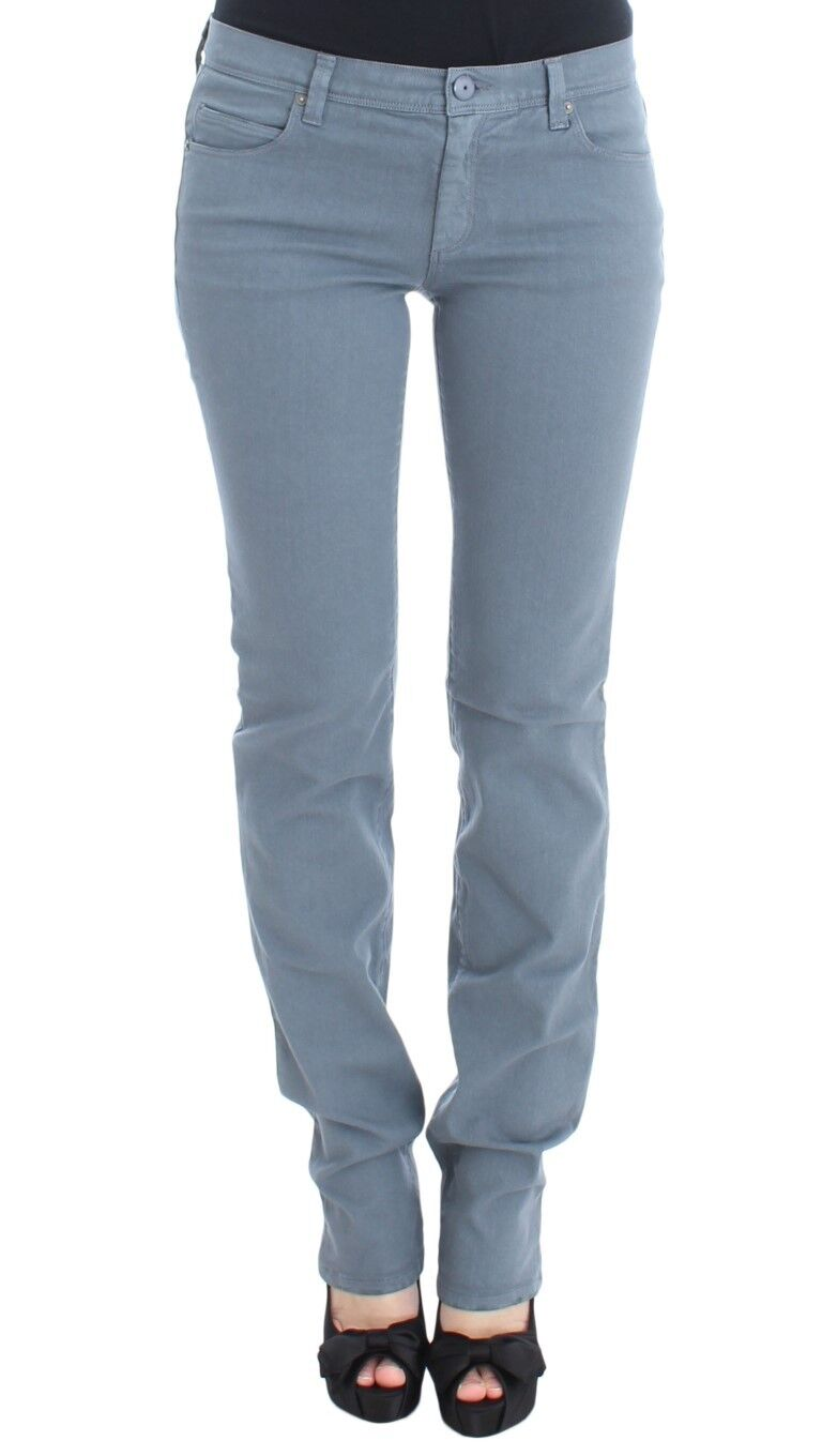 NEW  ERMANNO SCERVINO Pants Jeans bluee Cotton Blend Slim Fit Bootcut s. W28