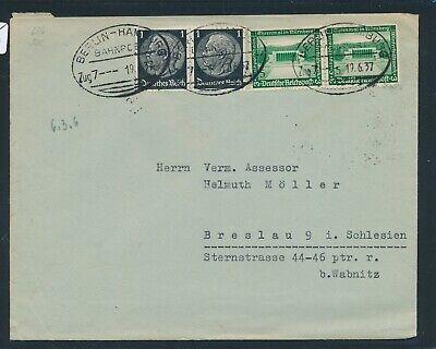 Gut Ausgebildete 35235) Bahnpost Ovalstempel Berlin - Hamburg Zug 7, Brief 1937
