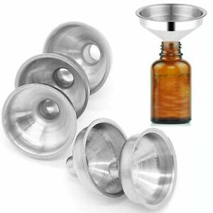 5Pcs-Mini-Stainless-Steel-Funnel-For-Perfume-Diffuser-Bottle-Liquid-Oil-Flask-US