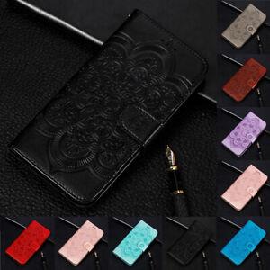 Pour-Samsung-Galaxy-A50-M20-Tournesol-Flip-Stand-Carte-Portefeuille-etui-en-Cuir