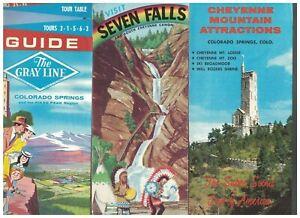 Texas Colorado 1950s Souvenir Travel Brochure Lot of 17 Pikes Peak Earl Abel's
