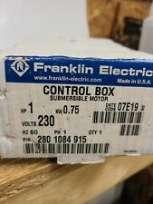 Franklin Electric 1 Hp Submersible Water Pump Control Box230v 2801084915