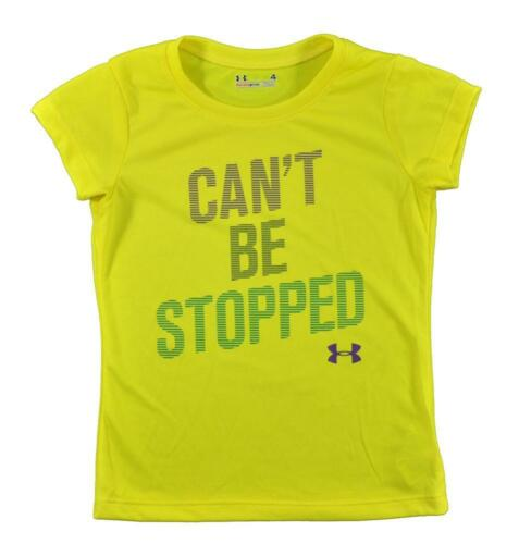 Under Armour Girls Lime Girls Yellow Can/'t Be Stopped Top Size 4 5 $17.99