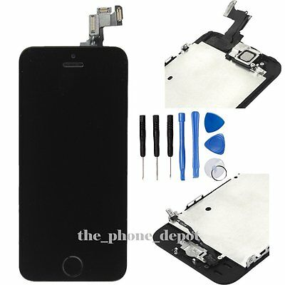 LCD Touch Screen Display Digitizer Assembly Replacement For iPhone 5S SE BLACK